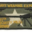 US ARMY HEAVY WEAPONS EXPERT 377TH SECURITY POLICE ARMORY PATCH