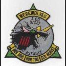 US Army A Company 3rd Battalion 227th Aviation Assault Regiment WEREWOLVES Patch