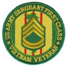 US Army Sergeant First Class Vietnam Veteran Patch