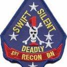 USMC 1st Reconnaissance Battalion Reconnaissance Battalion Patch