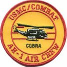 USMC AH1 Air Crew Patch Cobra