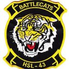 US Navy HSL-43 Helicopter Anti-Submarine Squadron Light Patch BATTLECATS