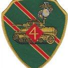 USMC 4th Tank Battalion Armored Battalion Patch
