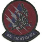 USAF 63 FS 63rd Fighter Squadron F-16 Unit Panthers Vintage Patch