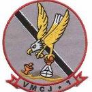 USMC VMCJ-1 Marine Composite Reconnaissance Squadron Golden Hawks Patch