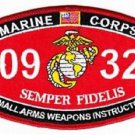 USMC Small Arms Weapons Instructor 0932 MOS Patch