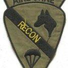 US Army Infantry 1st Cavalry Airborne Recon Insignia Vietnam War OD Patch