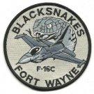 USAF Fort Wayne Ang F 16C 122nd Fighter Wing Blacksnakes Vintage Patch