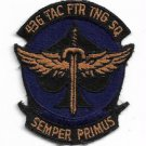 USAF 436 Tactical Fighter Training Squadron Semper Primus Vietnam Vintage Patch
