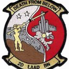 USMC 2nd LAAD Low Altitude Air Defense Battalion Death from Below Patch