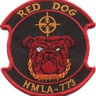 USMC HMLA-773 Marine Light Attack Helicopter Squadron Red Dog Patch