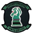 USMC VMFA(AW) 121 Marine All-Weather Fighter Attack Squadron Green Knights Patch