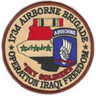 US Army 173rd Airborne Brigade Operation Iraqi Freedom Patch