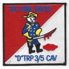 US Army  D Troop 3rd Squadron 5th Cavalry Regiment Military Patch THE LONG KNIVE