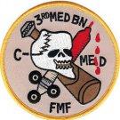 USMC MED 3rd Battaion MED C MED FMF Patch
