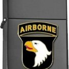 Polished Chrome US Army 101st Airborne Division Black Lighter
