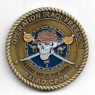 US Navy Operation Iraqi Freedom Desert tan in the sand Balad Cpoa Challenge Coin