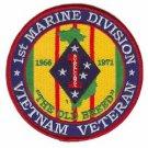 USMC 1st Marine Division Vietnam Veteran Patch