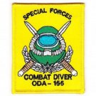US Army Co B 3rd Bn 1st SFG ODA -155 COMBAT DIVER Patch