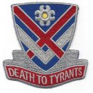 US Army 183rd Cavalry Regiment Virginia National Gaurd Patch DEATH TO TYRANTS