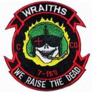 US Army C Co 7-159th Army Aviation Wraiths We raise the dead  Patch