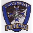 US Army 3rd Battalion 101st Aviation Regiment B Company Military Patch BLUE MAX