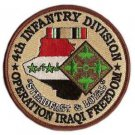 US Army 4th Infantry Division Operation Iraqi Freedom Patch