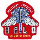 USMC High Altitude Low Opening (HALO) Parachute Jumper Military Patch FREEFALL