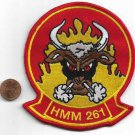 USMC Marine Medium Helicopter Squadron 261 HMM-261 the Raging Bulls Patch