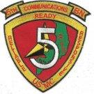USMC 5th Communications Battalion Patch