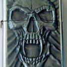Biker Motorcycle Raised Emblem Vampire Skull Lighter