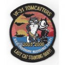 US Navy VF-31 Aviation Fighter Attack Squadron 31 Patch TOMCATTERS
