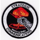United States AIR FORCE Strategic Communications Military Patch NULLIUS IN VERBA