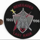 US Navy VF-24 F-14 Tomcat Renegades Last Rage 1955 *1996 Patch