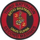 USMC 3rd Battalion 2nd Marine Regiment Infantry Patch