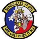 US Navy VF-202 Fighter Squadron With Cowboy Tomcat Patch  SUPERHEATS