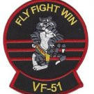 US Navy VF-51 Vertical Fighter Squadron F-14 Tomcat Patch Fly Fight Win