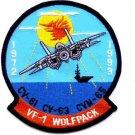 US Navy VF-1 Fighter Squadron Patch WOLFPACK 1972-1993 CV-61 CV-63 CV-65 Tomcat