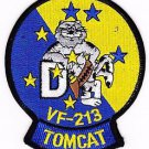 US Navy VF-213 Vertical Fighter Squadron F-14D Tomcat BLACK LIONS Patch