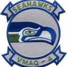 USMC VMAQ-4 Marine Tactical Electronic Warfare Squadron Seahawks Patch