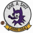 USMC HMM-364 THE PURPLE FOXES Give a S-it Back Patch