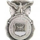 "U S Air Force Security Police Mp 1-3/4"" Badge Pin with Serial Numbers"