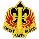 US ARMY18th Field Artillery Fire Brigade Military Patch SWEAT SAVES BLOOD