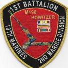 USMC 1st Battalion 10th Marines 2nd Marine Division Patch