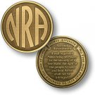 United States NRA Monogram - Second Amendment - Bronze Antique Challenge Coin