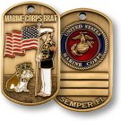 United States Marine Brat Dog Tag Challenge Coin