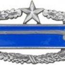 "US Army CIB 2nd Award Regulation Size Badge Large Pin ANTIQUE SILVER 3"""