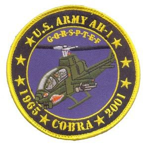 US Army AH-1 Cobra  Commemrative Patch without vel