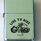 Biker Motorcycle Live To Ride Lighter