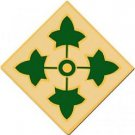 US Army 4th Infantry Division Combat Service Badge (1 7 16 inch)